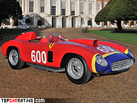 1956 Ferrari 290 MM Scaglietti Spider = 280 kph, 320 bhp, 4.8 sec.