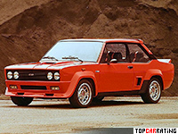 1976 Fiat 131 Abarth Rally = 190 kph, 139 bhp, 8.2 sec.