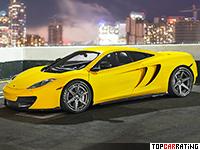 2013 McLaren 12C-Spa F = 352 kph, 710 bhp, 2.7 sec.
