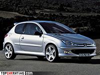 2003 Peugeot 206 RC = 231 kph, 177 bhp, 7.4 sec.