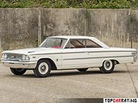 1963 Ford Galaxie 500 Lightweight 427 R-code = 218 kph, 416 bhp, 6.2 sec.