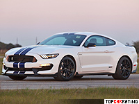 2016 Ford Mustang Hennessey GT350 HPE800 Supercharged = 340 kph, 821 bhp, 3.5 sec.