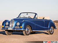 1957 BMW 502 Baur Cabriolet = 170 kph, 140 bhp, 11.3 sec.