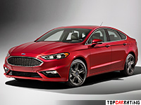 2016 Ford Fusion Sport EcoBoost = 250 kph, 325 bhp, 5.5 sec.