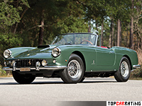 1960 Ferrari 400 Superamerica Passo Corto Cabriolet = 265 kph, 340 bhp, 5.3 sec.