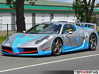2015 Ferrari Nimrod 858 Italia Katyusha Hennessey = 345 kph, 747 bhp, 2.8 sec.