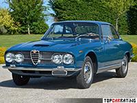 1965 Alfa Romeo 2600 Sprint = 210 kph, 145 bhp, 10.5 sec.