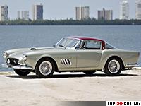1957 Ferrari 410 Superamerica Series II Coupe = 260 kph, 360 bhp, 5.4 sec.