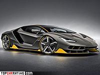 2017 Lamborghini Centenario Coupe = 350 kph, 770 bhp, 2.8 sec.