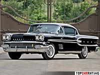 1958 Pontiac Bonneville Custom Sport Coupe = 210 kph, 300 bhp, 11.8 sec.