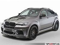2011 BMW X6 M Hamann Tycoon Evo M = 300 kph, 670 bhp, 4.2 sec.