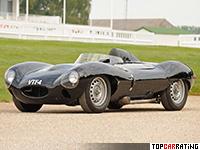 1954 Jaguar D-Type = 261 kph, 250 bhp, 4.9 sec.