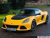 2015 Lotus Exige Sport 350 = 274 kph, 350 bhp, 3.8 sec.