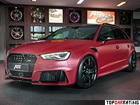 2015 Audi RS3 Sportback ABT Sportsline = 285 kph, 430 bhp, 4.1 sec.