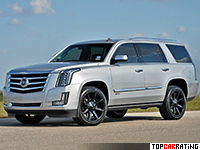 2016 Cadillac Escalade Hennessey HPE800 Supercharged = 288 kph, 816 bhp, 4.3 sec.