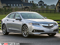2015 Acura TLX 3.5L V6 SH-AWD = 240 kph, 290 bhp, 6.9 sec.