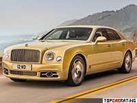 2016 Bentley Mulsanne Speed = 306 kph, 537 bhp, 4.9 sec.