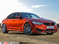 2016 BMW M3 Competition Package = 250 kph, 450 bhp, 4 sec.