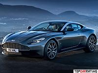 2017 Aston Martin DB11 Coupe = 324 kph, 607 bhp, 3.8 sec.