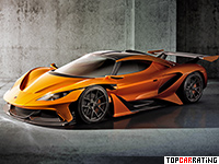 2016 Apollo Arrow = 360 kph, 1000 bhp, 2.9 sec.