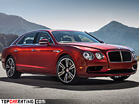 2016 Bentley Flying Spur V8 S = 306 kph, 528 bhp, 4.6 sec.