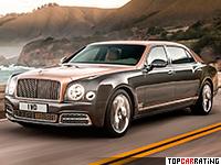2017 Bentley Mulsanne Extended Wheelbase = 296 kph, 512 bhp, 5.4 sec.