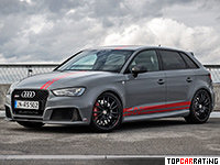 2016 Audi RS3 Sportback MTM RS3 R = 300 kph, 502 bhp, 3.6 sec.