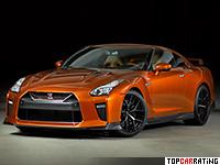 2017 Nissan GT-R = 320 kph, 573 bhp, 2.7 sec.