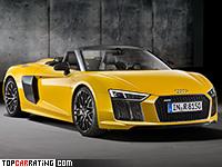 2017 Audi R8 Spyder = 318 kph, 540 bhp, 3.6 sec.