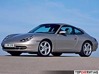 1997 Porsche 911 Carrera (996) = 280 kph, 300 bhp, 4.9 sec.