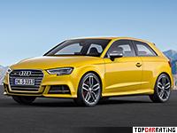 2017 Audi S3 (8V) = 250 kph, 310 bhp, 4.7 sec.