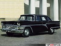 1959 Supercars GAZ 13 Сhaika = 170 kph, 195 bhp, 16 sec.