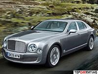 2009 Bentley Mulsanne = 296 kph, 512 bhp, 5.3 sec.