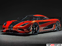 2016 Koenigsegg Agera One of 1 = 447 kph, 1360 bhp, 2.6 sec.