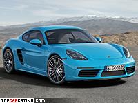 2017 Porsche 718 Cayman S = 285 kph, 350 bhp, 4.2 sec.