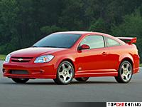 2005 Chevrolet Cobalt SS Supercharged Coupe = 233 kph, 205 bhp, 6.1 sec.