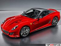 2010 Ferrari 599 GTO = 335 kph, 670 bhp, 3.35 sec.