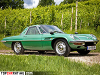1968 Mazda Cosmo Sport (L10B) = 200 kph, 128 bhp, 9 sec.