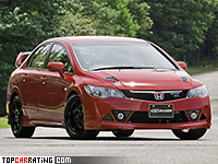 2008 Honda Civic Type-RR Mugen Sedan = 255 kph, 243 bhp, 6 sec.