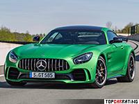 2017 Mercedes-AMG GT R = 318 kph, 585 bhp, 3.6 sec.