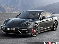 2017 Porsche Panamera Turbo = 306 kph, 550 bhp, 3.6 sec.