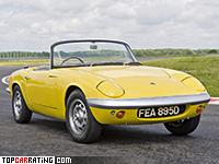 1962 Lotus Elan S1 = 185 kph, 105 bhp, 9.2 sec.