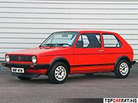 1976 Volkswagen Golf GTI (Typ 17) = 182 kph, 112 bhp, 9 sec.