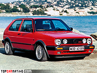 1988 Volkswagen Golf GTI G60 (Typ 1G) = 216 kph, 160 bhp, 8.3 sec.