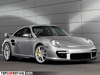 2007 Porsche 911 GT2 (997) = 329 kph, 530 bhp, 3.7 sec.
