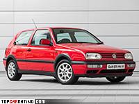 1992 Volkswagen Golf GTI (Type 1H) = 215 kph, 150 bhp, 8.7 sec.