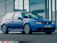 2002 Volkswagen Golf R32 (Typ 1J) = 247 kph, 241 bhp, 6.6 sec.