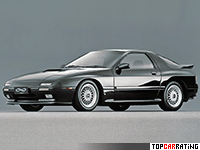 1985 Mazda Savanna RX-7 (FC) = 240 kph, 200 bhp, 6.7 sec.