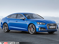 2017 Audi S5 Sportback = 250 kph, 354 bhp, 4.7 sec.
