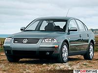 2002 Volkswagen Passat W8 Sedan (B5+) = 250 kph, 275 bhp, 6.5 sec.